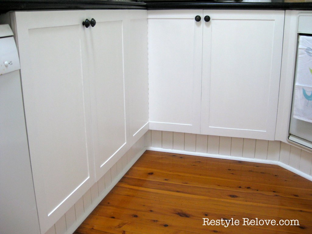 diy mdf panelled kitchen cabinets
