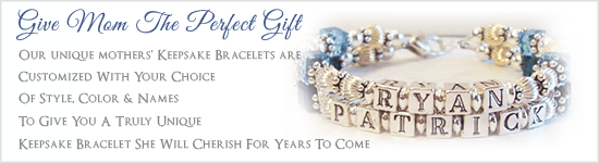 Give Mom the Gift of Custom Mother's Bracelets by Crystal Allure Beaded Jewelry Creations