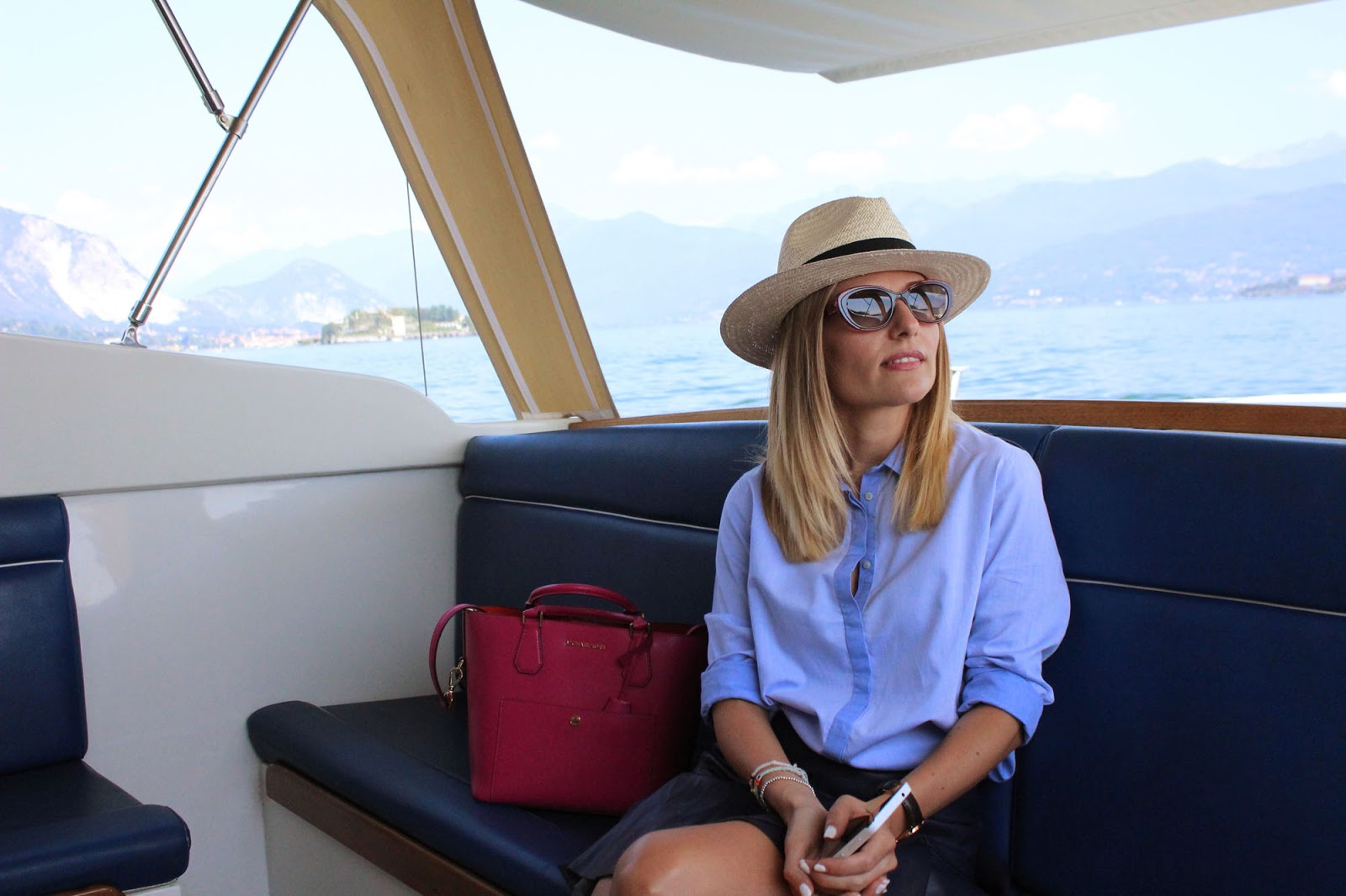 Eniwhere Fashion - Blue shirt - Isola Bella