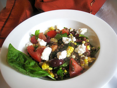 lentil and corn salad