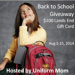 Enter to win the August 2014 Back to School Giveaway. Ends 8/15.