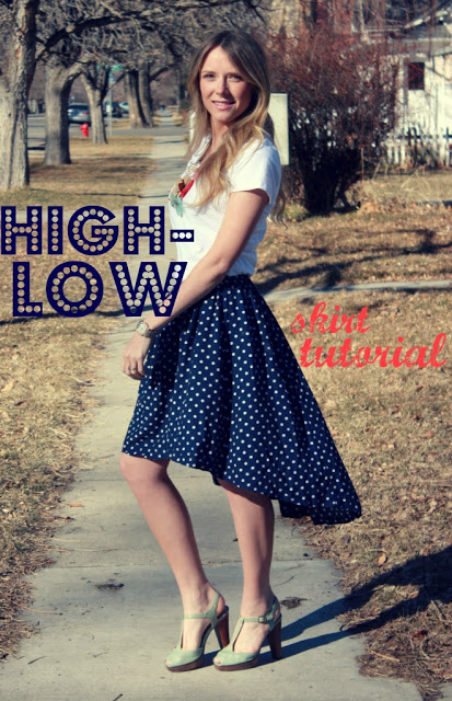 DIY High-low skirt sewing