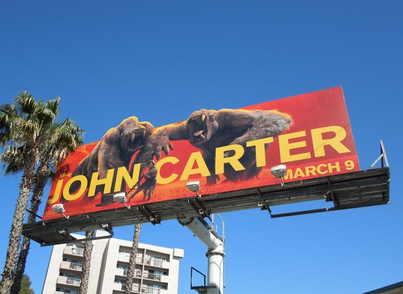 John Carter white apes billboard