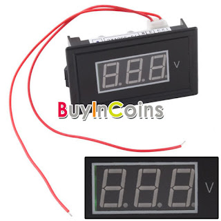 Digital Voltmeter AC 75V To 300V Blue LED Panel Meter AC 220V 110V Voltage