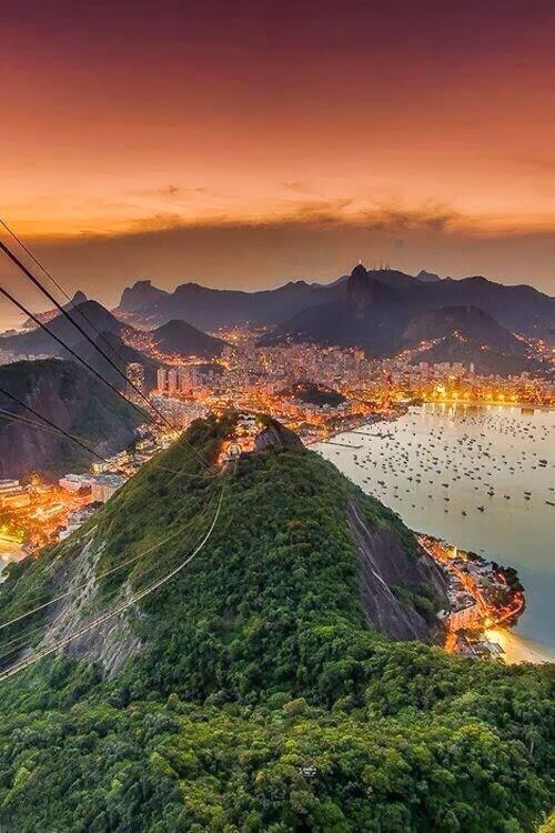 Amazing view of Rio de Janeiro, Brazil.