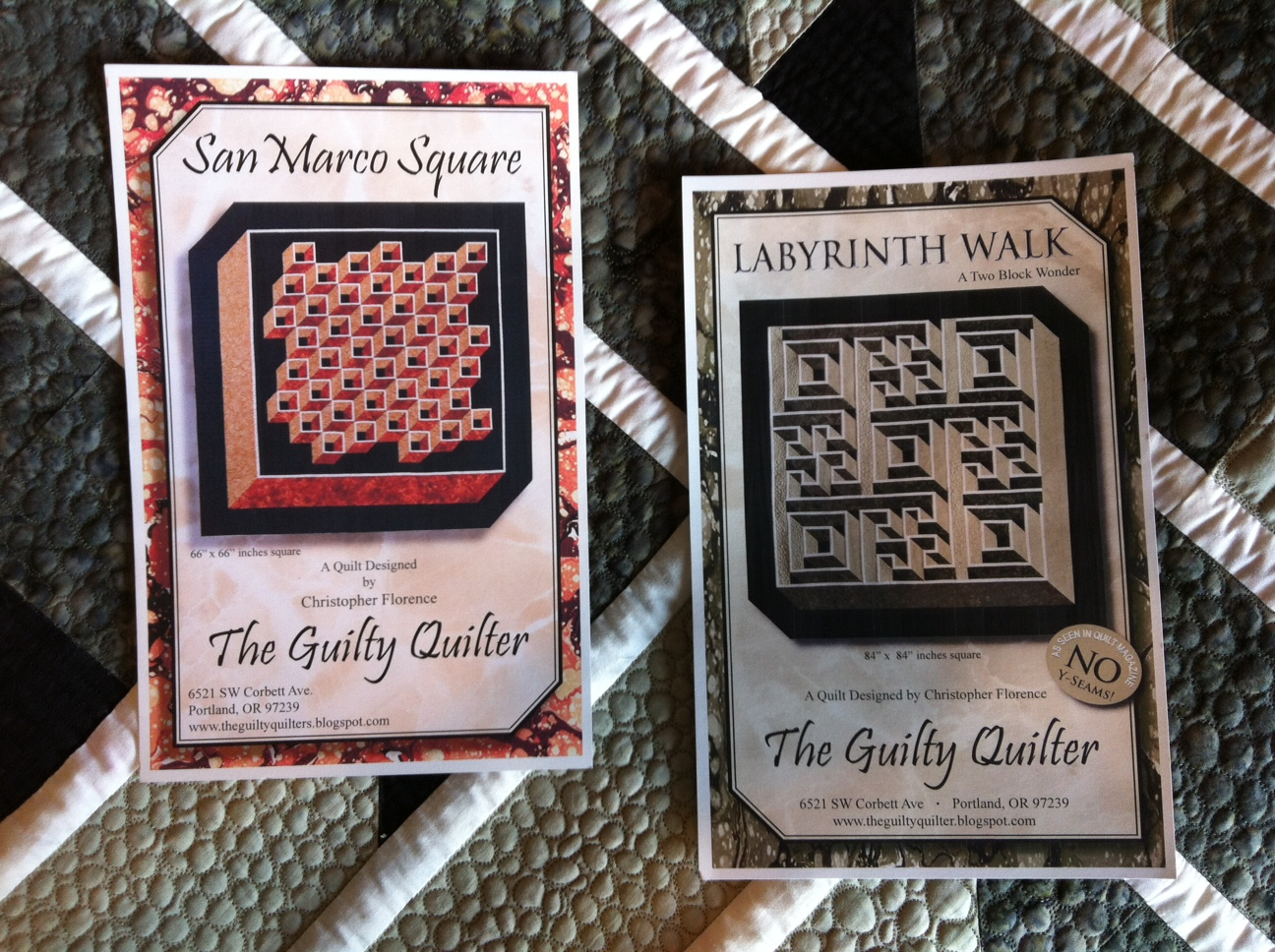 The Guilty Quilters Look For These Patterns At A Quilt Store Near You