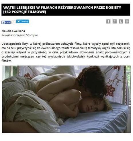 Wątki lesbijskie w filmach reżyserowanych przez kobiety /kliknij/
