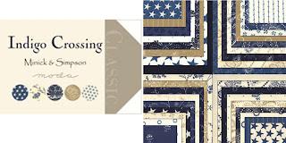 Moda INDIGO CROSSING Quilt Fabric by Minick & Simpson