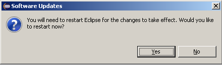 Restart eclipse after uninstallation