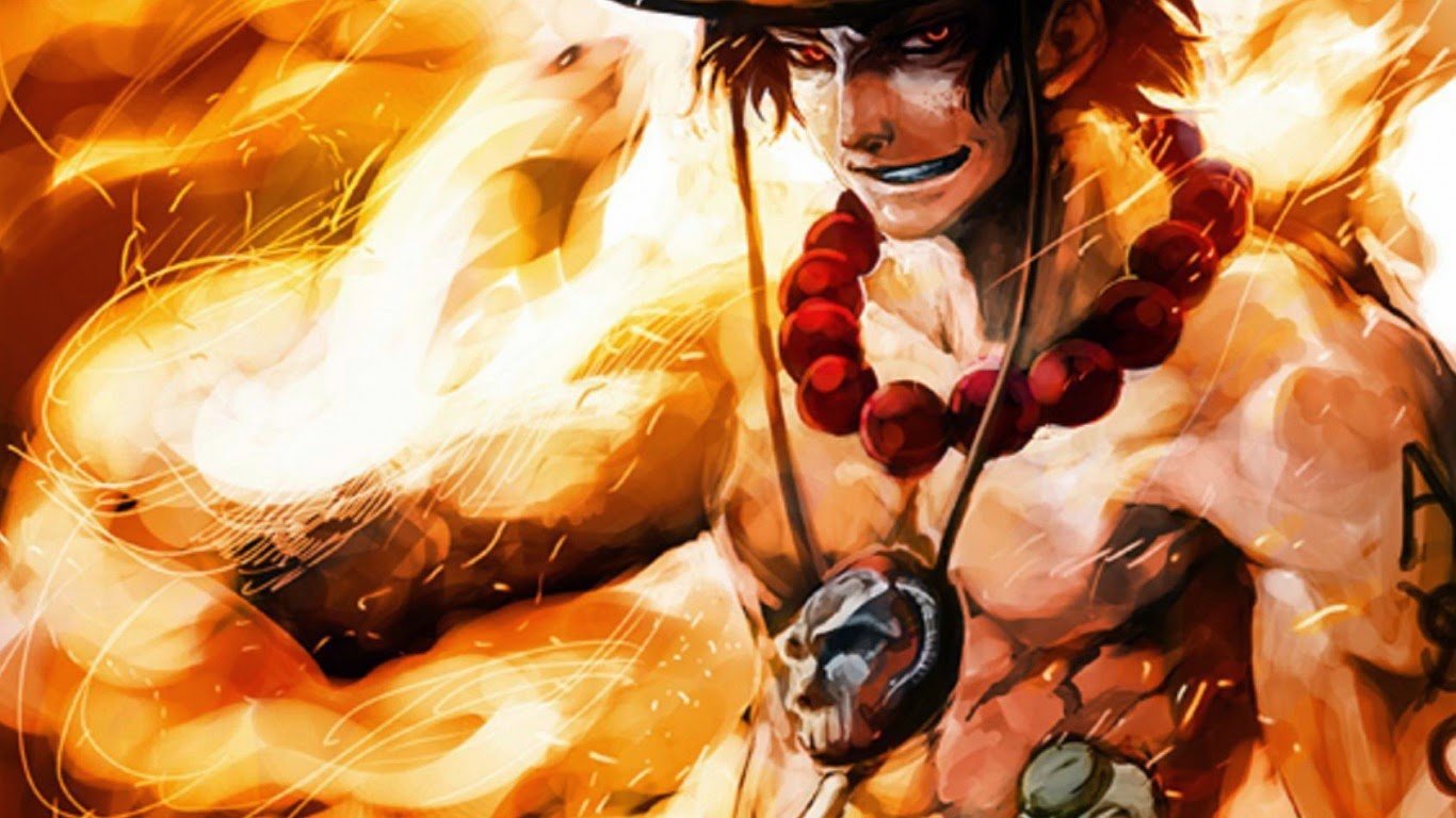 ace was the 2nd division commander of the white beard pirates and one    One Piece Wallpaper Ace