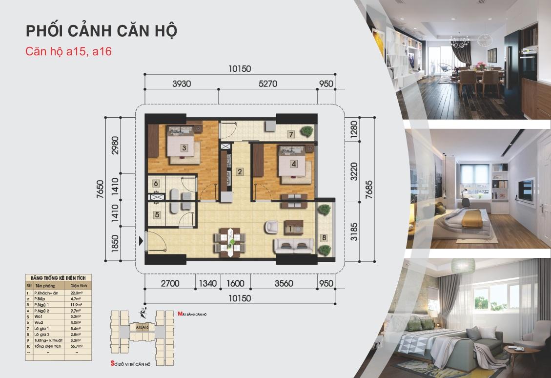 Thiết kế căn hộ a15, a16 - Gemek Premium