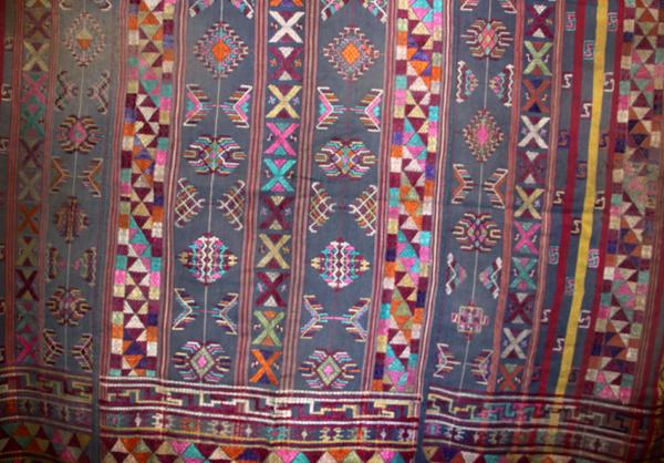bhutanese textile antique silk vegetable dye Ngo-sham Kira