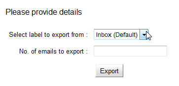Export options