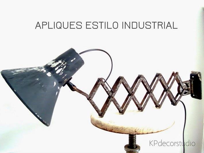 Comprar apliques vintage estilo industrial