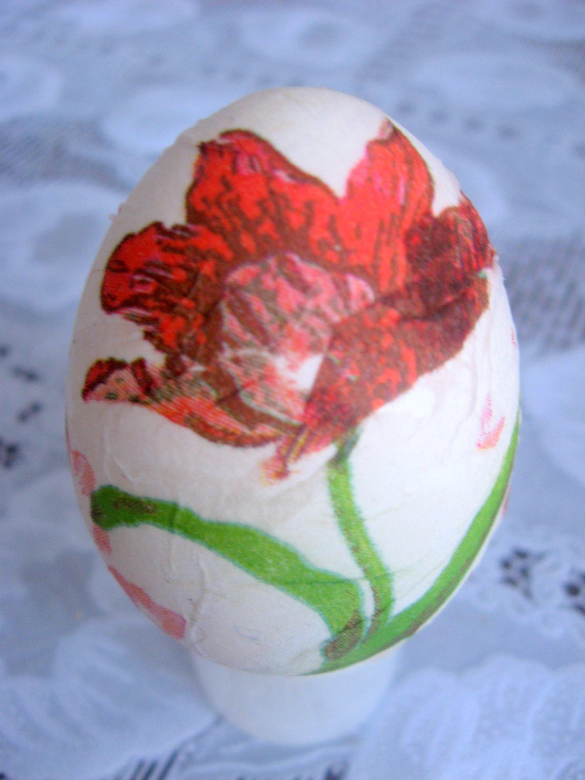 Пасхальные яйца своими руками декупаж белком