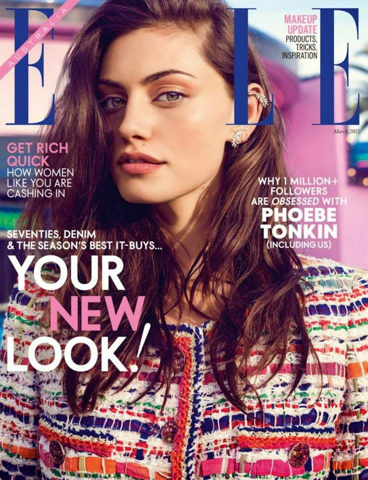 Actress, Model @ Phoebe Tonkin - ELLE Australia March 2015