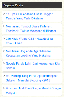 Cara Membuat Popular Post Blog Simple dan Keren