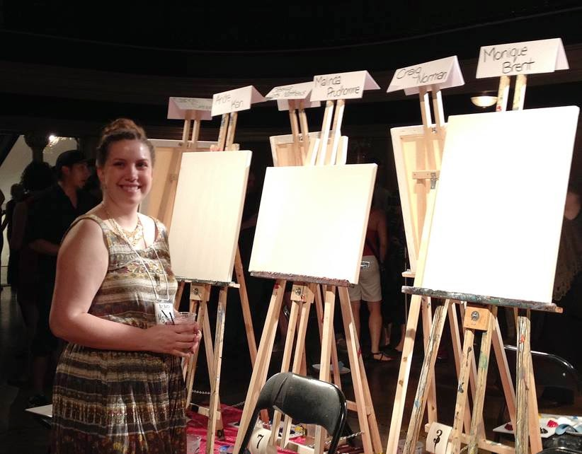 art battle, art battle 142, toronto, the great hall, malinda prudhomme, portrait artist, travel artist, travel painting, colosseum, roman forum, rome art, speed painting, 20 min painting, canadian artist