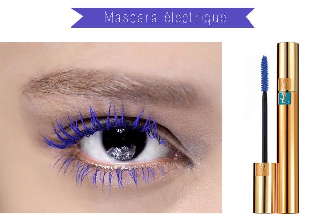mascara bleu electrique
