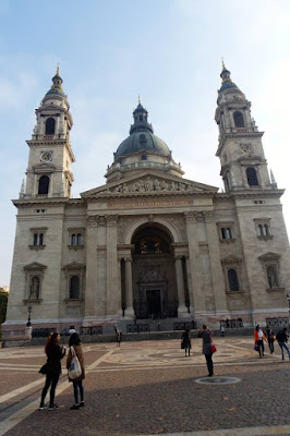 Front Door of St Stephen's Basilica Budapest Hungary