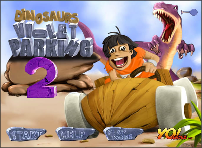 Truck Game : Dinosaur Violet Parking 2
