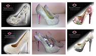New Ladies Crystal Shoes