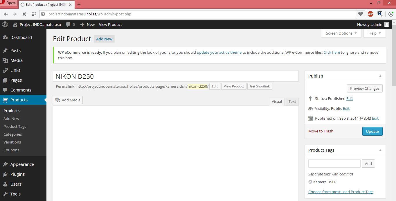 Panduan Menggunakan Pugin Wp eCommerce Unruk Membuat Toko Online di Wordpres 7