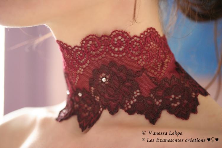 dentelle de calais noire; bleu; perlée; rouge Corset+victorien+rouge+dentelle