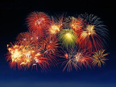 Feliz ano novo fogos de artifício