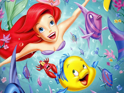 Desenho Princesa Ariel Disney colorido