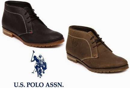 (Discount Increased) Dream Brand @ Dream Price: U.S. Polo Assn. Men Leather Casual Shoes (Black or Brown) worth Rs.4999 just for Rs.3412 Only