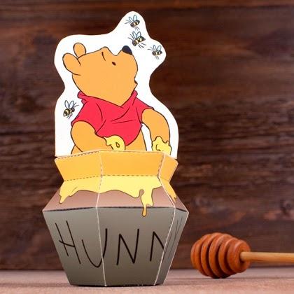 Winnie The Pooh en tarro de miel. Juguetes de papel. | Ideas y ...