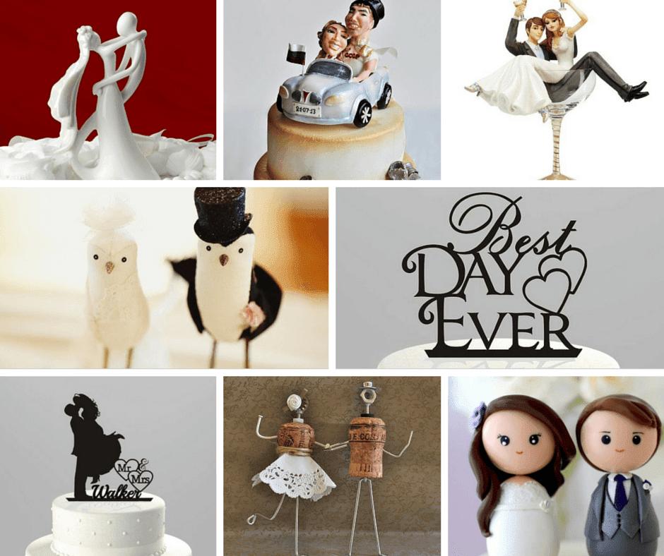 сватбени фигурки с младоженци за торта