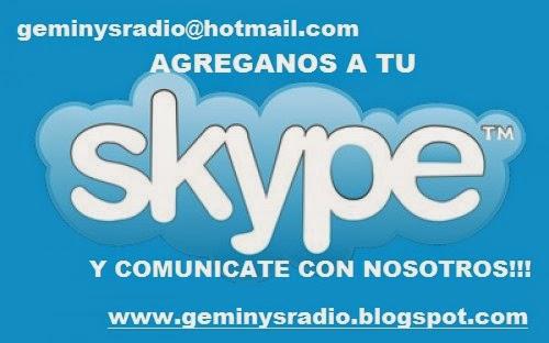 COMUNICATE A LA RADIO MEDIANTE SKYPE