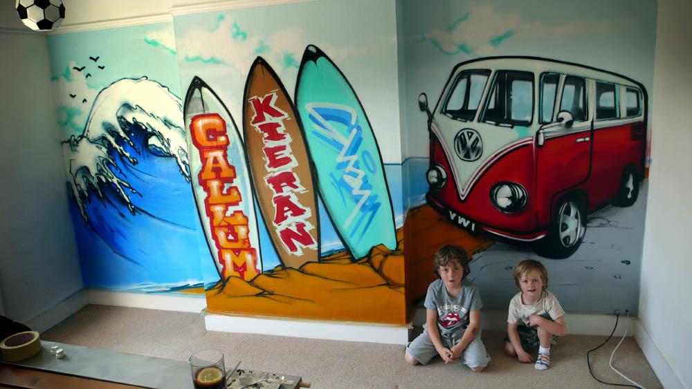 3d graffiti wall ideas for Graffiti bedroom designs