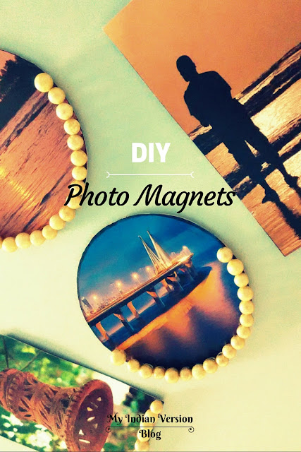 DIY personalized photo magnets