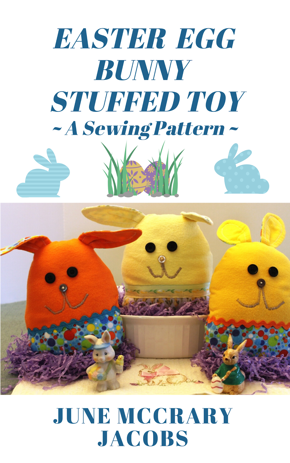 FIND 'EASTER EGG BUNNY STUFFED TOY:  A SEWING PATTERN' ON AMAZON.