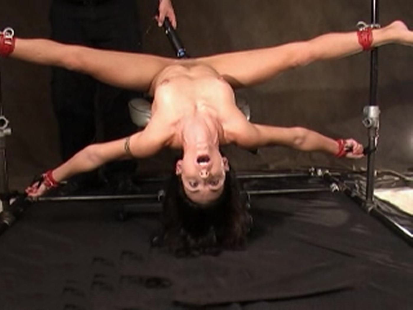 Bondage girl having orgasm