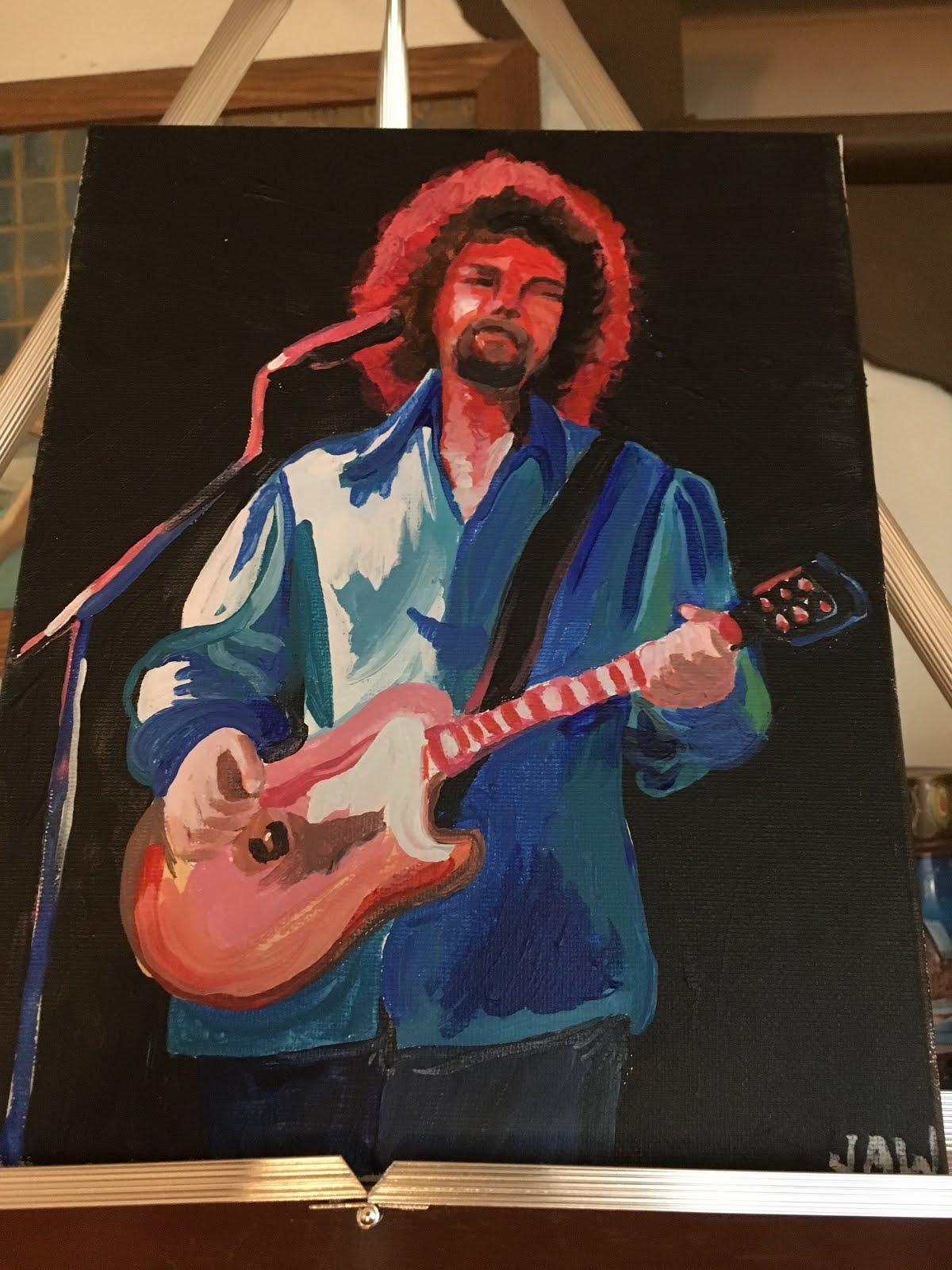 My painting of Jeff Lynn