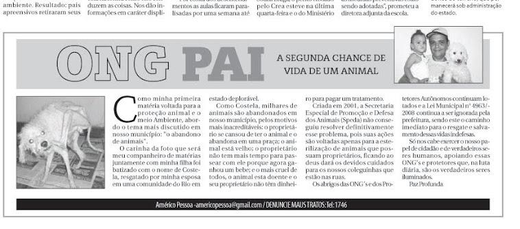 Coluna da ONG PAI no jornal Povo 03-04-2012