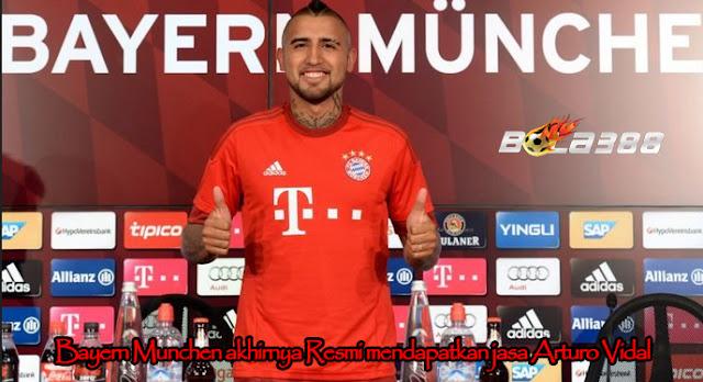 Bayern Munchen akhirnya Resmi mendapatkan jasa Arturo Vidal