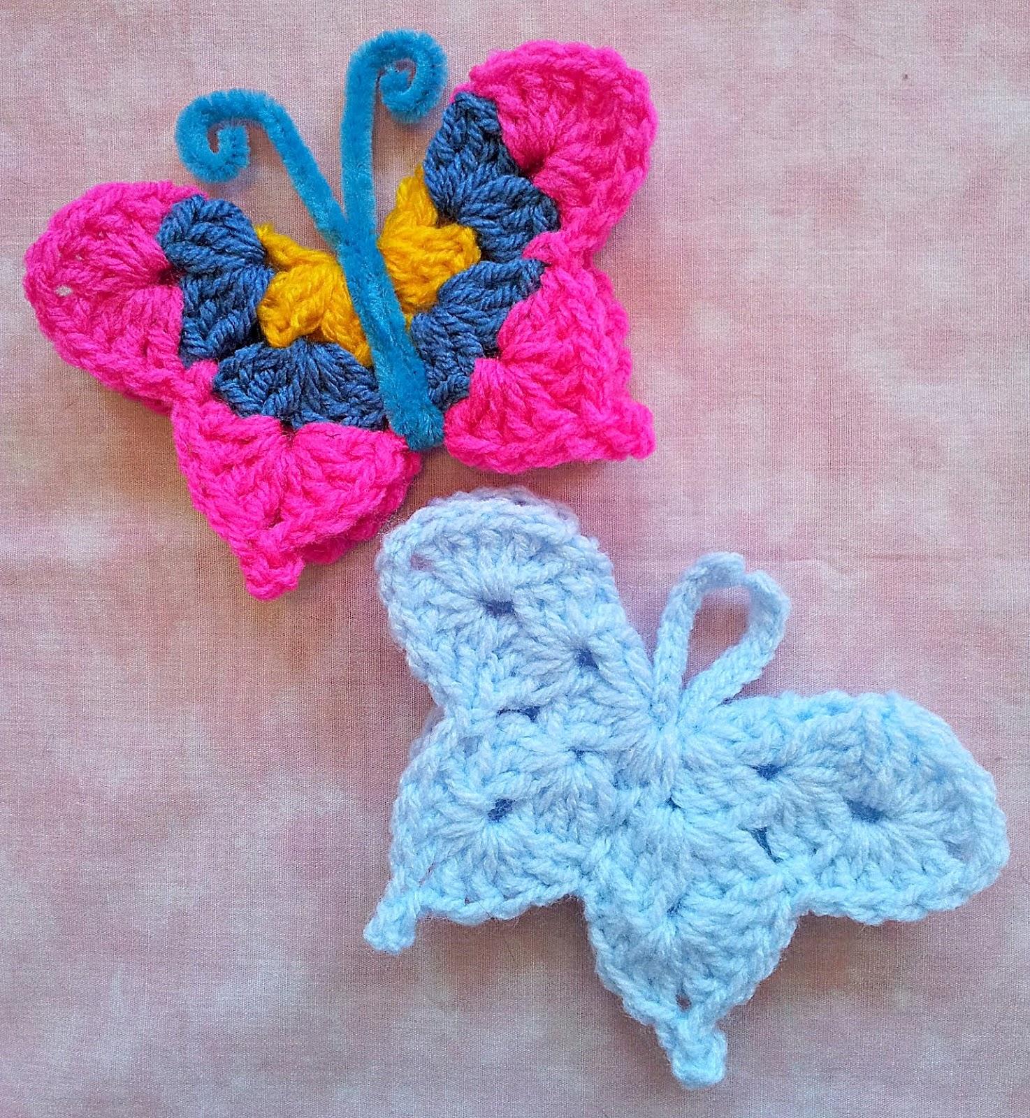 Free Crochet Pattern Butterfly Hat : So Far, So Good: Fridgie Butterfly