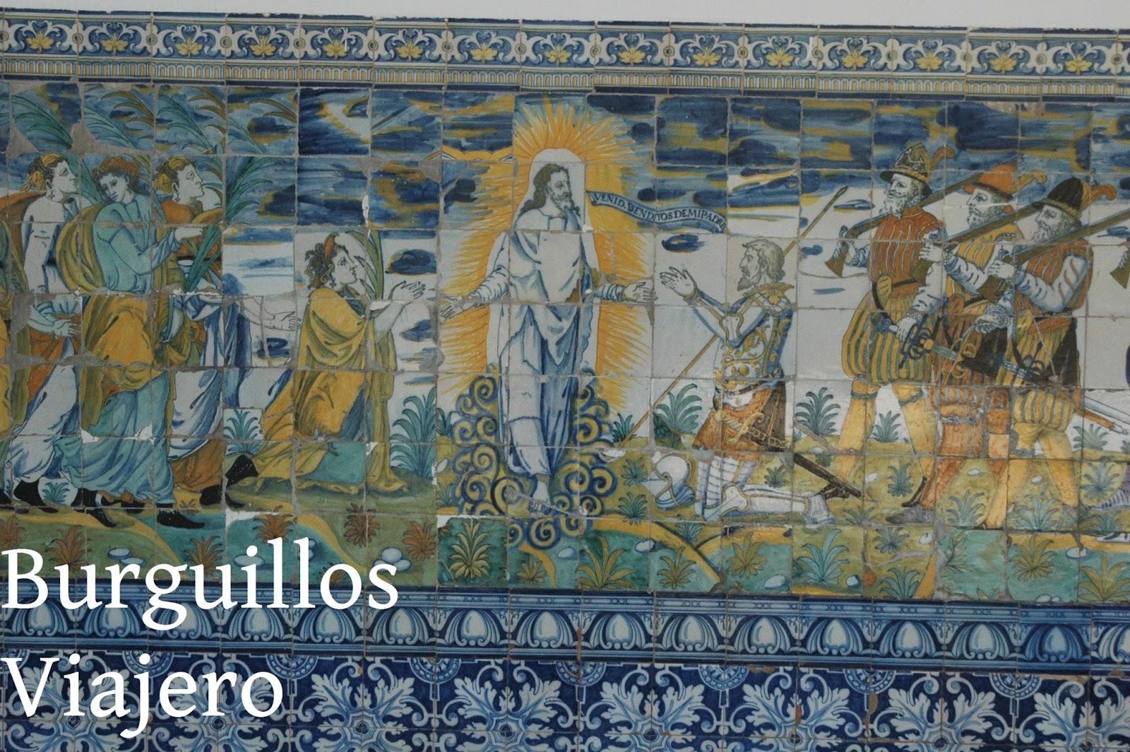 Azulejos Para Baños En Talavera Dela Reina:DE LA REINA, Toledo Detalle de otro de los paneles de azulejos de
