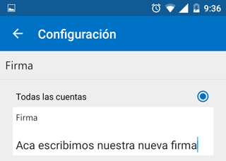 Como cambiar firma Correo móvil [Android]