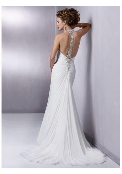 Gorgeous beautiful casual wedding dress with strap axw177 jpg