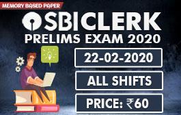 SBI CLERK PRELIMS MEMORY BASED PAPER