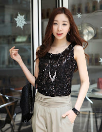 Bling Sequin Sleeveless Tops