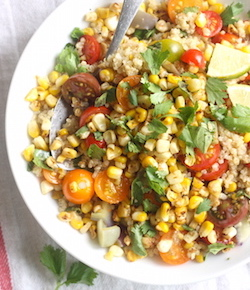 charred corn quinoa salad recipe by seasonwithspice.com