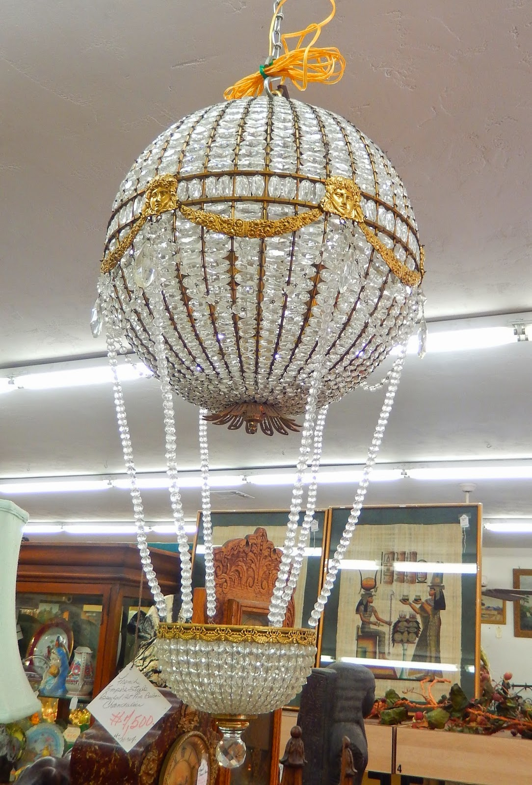 Newport avenue antiques april and may 2014 arrivals for Balloon chandelier decoration