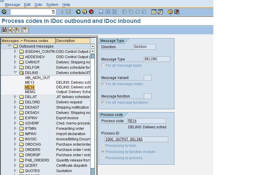 SAP&EDI: WE64